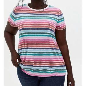 🆕 Triblend Multi Stripe Vintage Jersey TShirt Top
